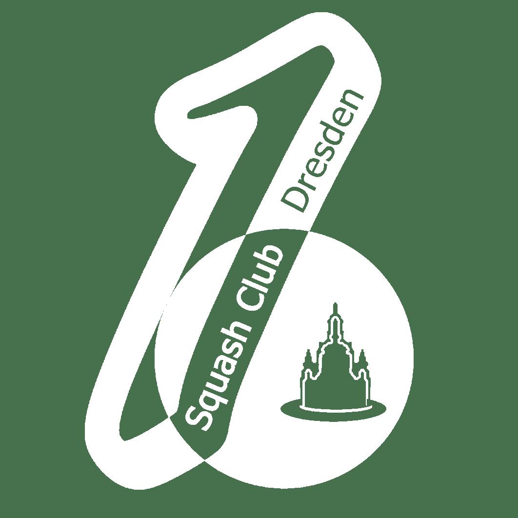 Logo 1. Squash Club Dresden - White
